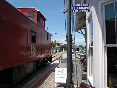 Caboose Train at North Judson Depot
